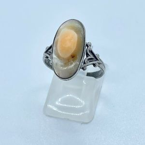 Vintage Blister Pearl Ring 925 Sterling Silver